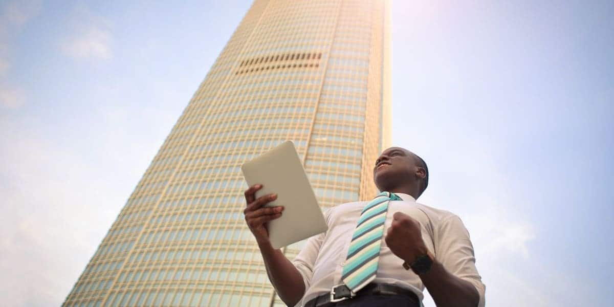 business owner finding success with his business plan